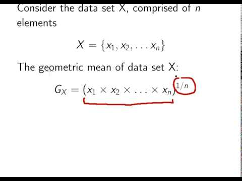 Introduction To Statistics Geometric Mean Youtube