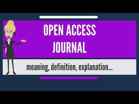 What is OPEN ACCESS JOURNAL? What does OPEN ACCESS JOURNAL mean? OPEN ACCESS JOURNAL meaning