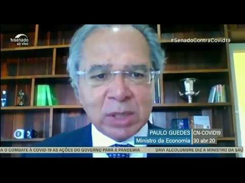 Plano de ajuda a estados e municípios pode chegar a 130 bilhões, afirma Paulo Guedes