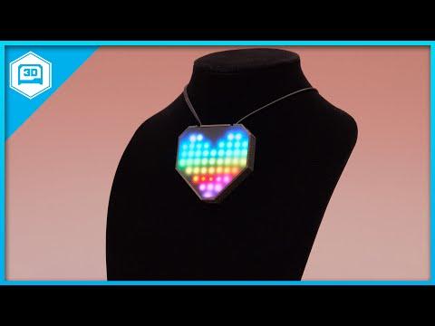 Black LED Acrylic NeoPixel Heart