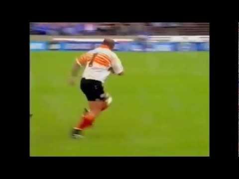 Os du Randt big run sets up try for Free State vs Highlanders 1997