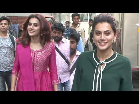 Taapsee Pannu Spotted In 70s Retro Look At Filmistan Studio