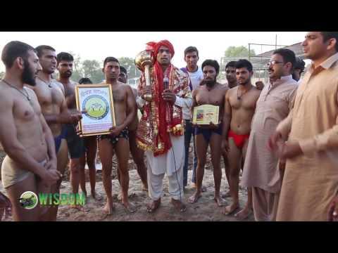 Desi Kushti Pehalwan Wrestler Dancing and Celebrating after winning title from Indian Punjab