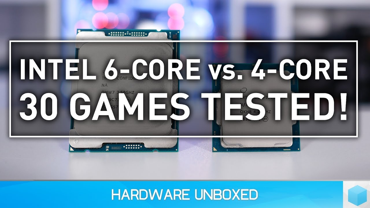 Core i7-7800X vs. 7700K, 6 or 4-Cores for Gaming? - YouTube