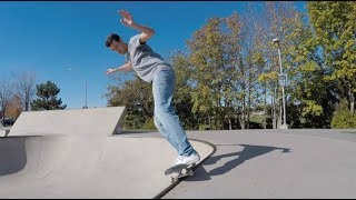 How to backside 50-50 stall on a ramp (transition basics)