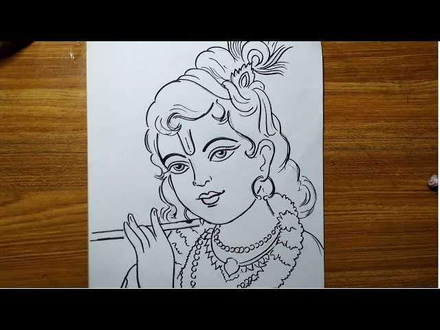 How To Draw Lord Krishna For Jhulan Yatra Special Bal Gopal Drawing Krishna Thakur Drawing Youtube