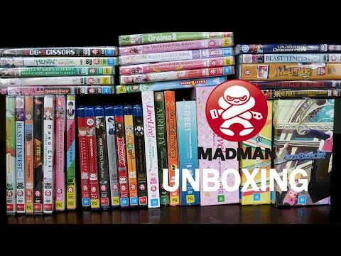 Madman Anime Unboxing DVD, Blu-ray and Plushie