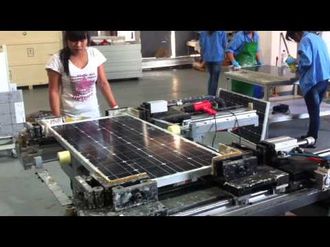 Lower investment of manual solar panel production line