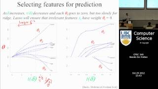 undergraduate machine learning 21: L1 regularization and the lasso