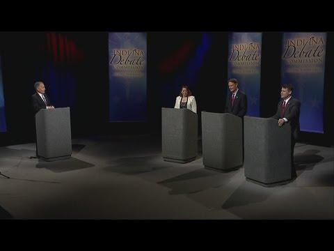 Young, Bayh go head to head in U.S. Senate debate