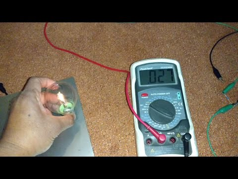 Cold Electricity - Current Measurement with 12 MOhm Resistor