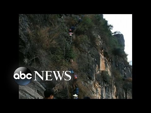 Chinese Children Climb 2,625 Feet to Get Home