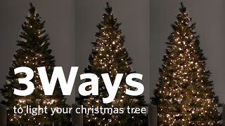 How To Hang Christmas Tree Lights 3 Different Ways!
