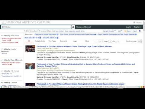 National Archives Online Tutorial