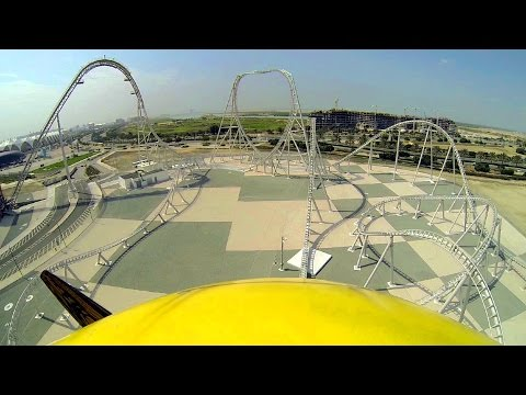 Flying Aces front seat on-ride HD POV 60fps Ferrari World Abu Dhabi
