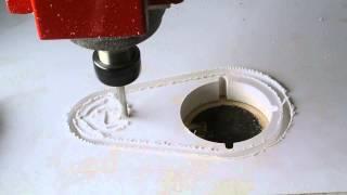 cnc plaswood cutting // ตัดแผ่นพลาสวูดด้วยเครื่อง CNC