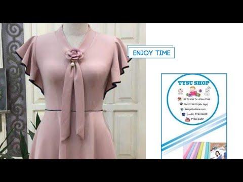 Dạy Cắt May Áo Đầm 360 Cổ Tim Bèo Tay _ Tysushop_ 742 | sewing diy clothes