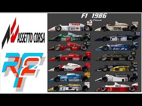 F1 1986...R-FACTOR 2 VS ASSETTO CORSA