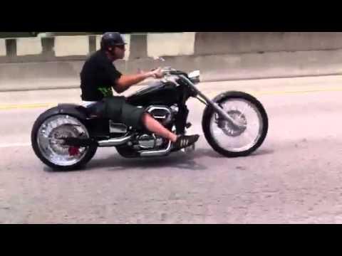 Miami Honda Shadow Spirit Chopper W 240 Rear Tire And 21