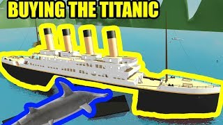 BACON HAIR BUYS the TITANIC | Roblox SharkBite