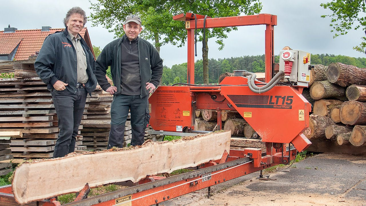 Bandsaw Mill For Sale >> German logger starts sawmilling - Wood-Mizer LT15 sawmill ...