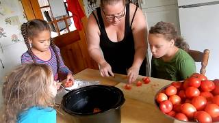 Canning Tomato Sauce Detailed Step by Step