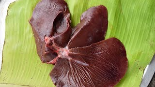 Famous Street Food : Cooking Pig Liver in India |