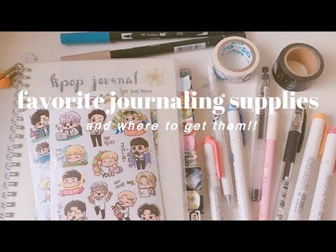 favorite journaling supplies | where to get them