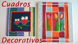 Manualidades para decorar - Cuadros decorativos con relieve - Manualidades para todos