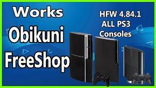 Obikuni MultiStore FreeShop PS3 HAN EXPLOIT HFW Hybrid Firmware 4.84.1 ALL PS3 Consoles 2019