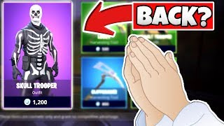 FORTNITE SKULL TROOPER IS FINALLY COMING BACK..!!? (FORTNITE: BATTLE ROYALE) LEAKED SKINS!
