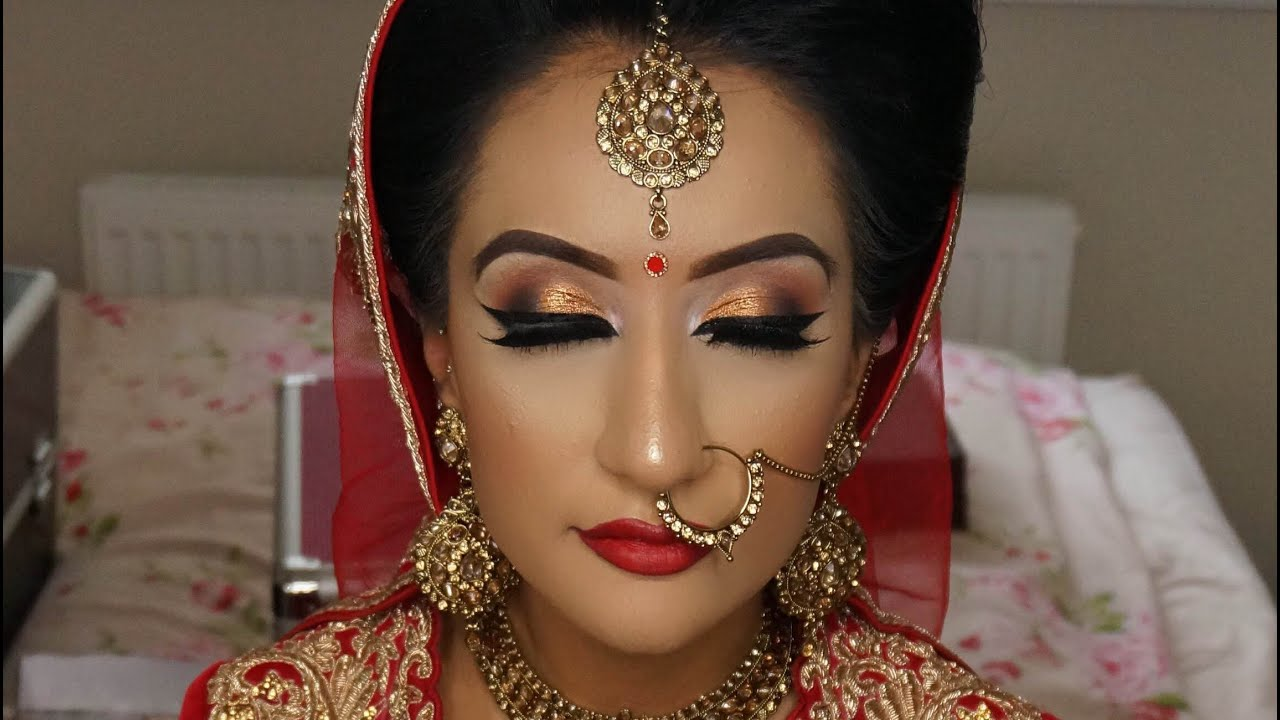 Real Bride | Asian Bridal Makeup | Traditional Signature Look - YouTube
