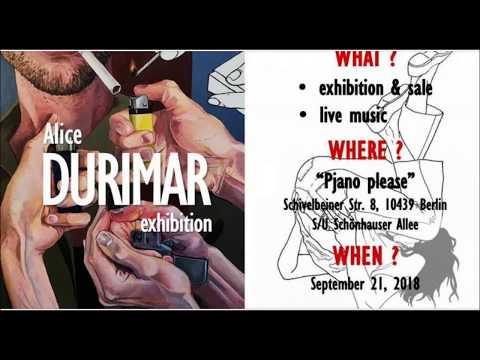 Vernissage der Ausstellung mit Bildern der Malerin Alice Durima (Sibirien, Russland) 21.9. 18 Berlin