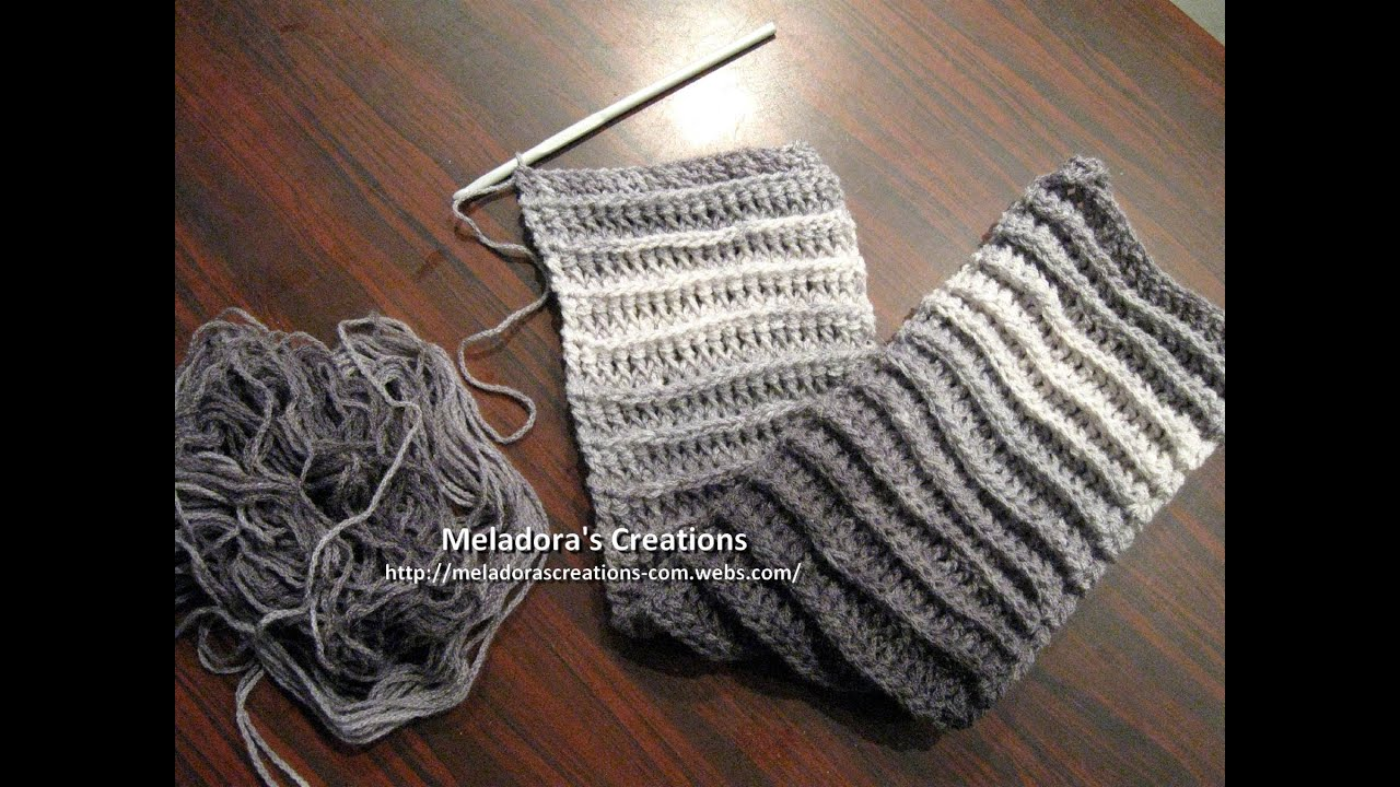 Crochet Stitches Good For Scarves : Riptide Scarf Crochet Tutorial - Good scarf for men too! - YouTube