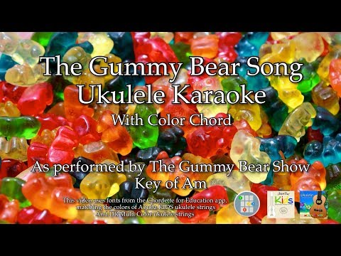 Gummy Bear Song Ukulele Karaoke