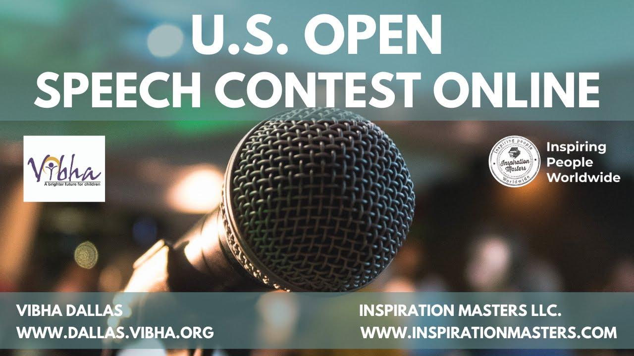 U.S. Open Speech Contest Announcement