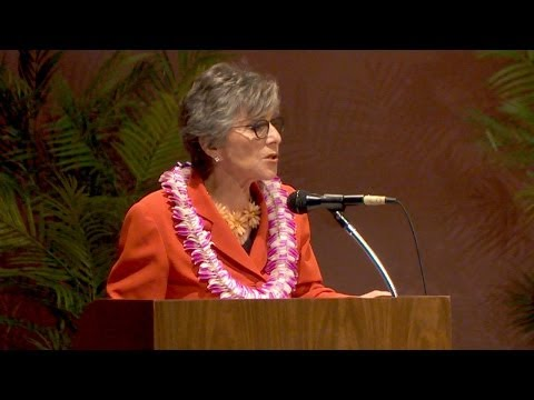 U.S. Senator Barbara Boxer's addresses University of Hawaii for Ascent conference