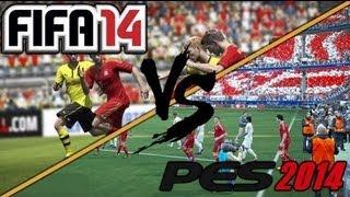 PES 14 vs FIFA 14 GAMEPLAY ITA
