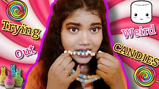 TRYING OUT WEIRD CANDIES I HAVE NEVER TASTED BEFORE || House of Candy REVIEW || Pri-Anjali