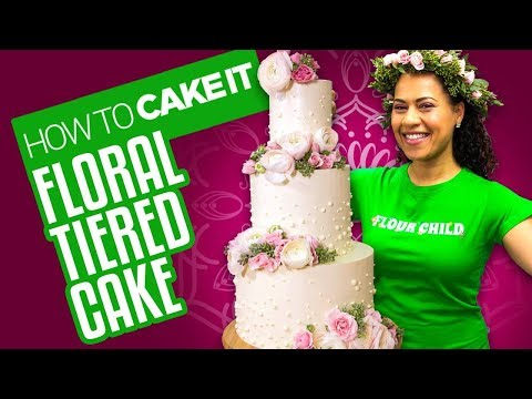 Delicious Spring Floral Tiered Cake for Mother's Day   How To Cake It   Yolanda Gampp