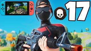 17 Kill Solo Win Gameplay - Fortnite Nintendo Switch