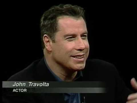 John Travolta Job İnterview On Charlie Rose 1999 & Talks Sci