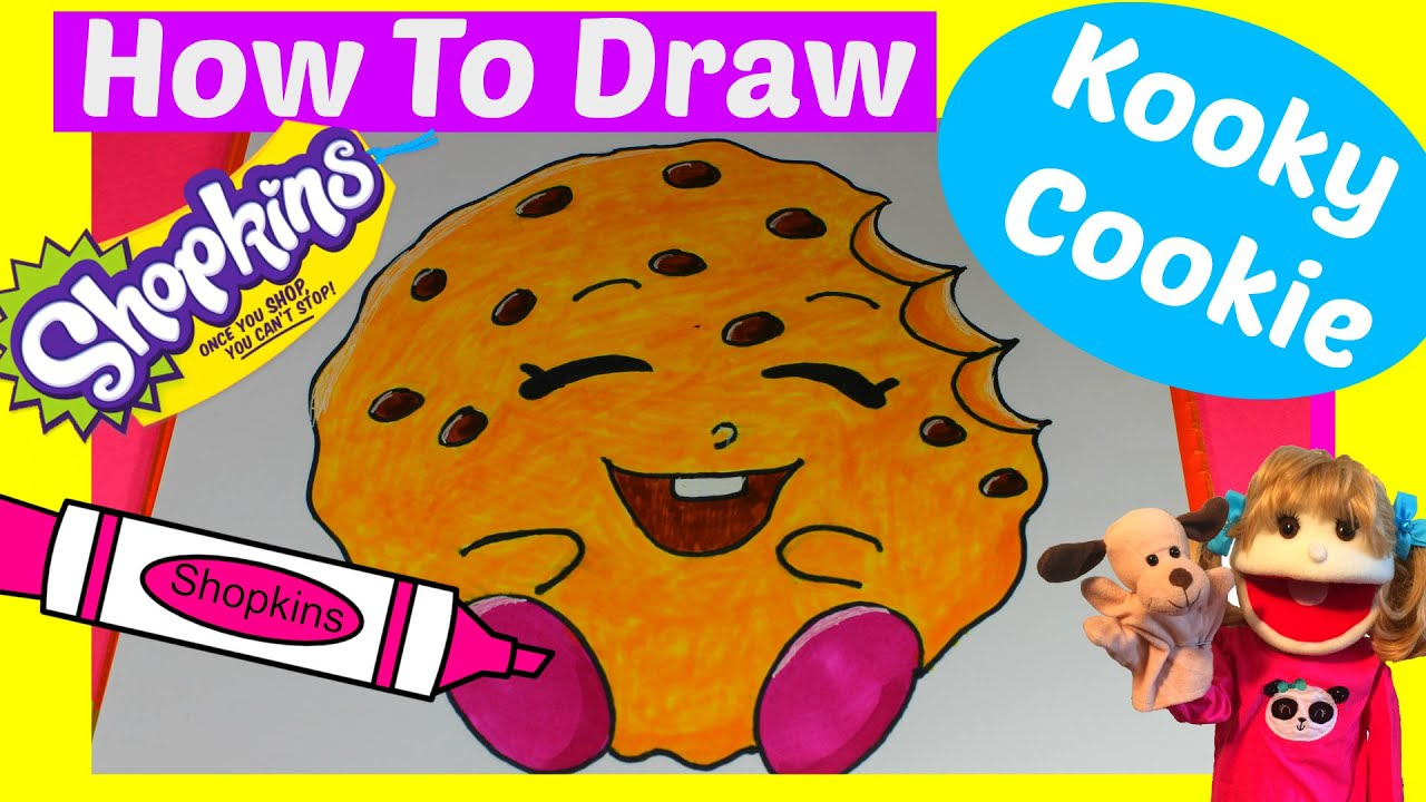 how to draw shopkins kooky cookie step by step easy kids drawing kids crafts learn how to draw - Easy Kid Drawing