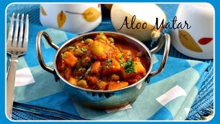 Aloo Matar - Five Spice Cooking Series| Potatoes And Peas Cooked In Tomato Gravy