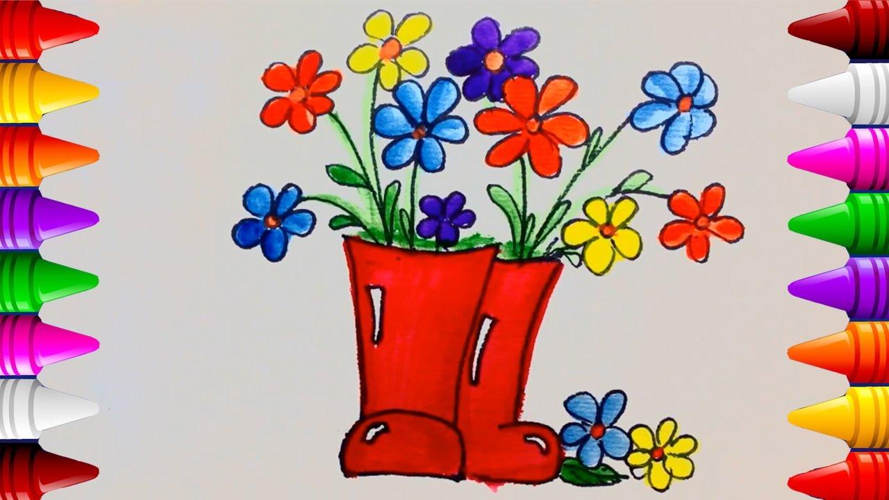 Dibujos Para Colorear Florero Como Dibujar Un Florero Facil