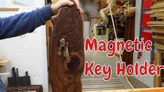 Magnetic key holder with an invisible mount