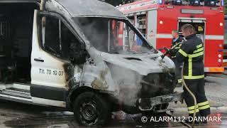 16 juli 2019 brand i varevogn Tårnby