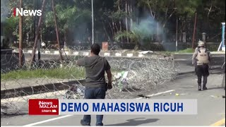 Demo Peringatan 2 Tahun Penembakan 2 Mahasiswa Univ Halu Oleo Berlangsung Ricuh #iNewsMalam 28/09