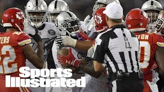 Donald Penn Says Marshawn Lynch Left Bench To Protect Marcus Peters | SI Wire | Sports Illustrated