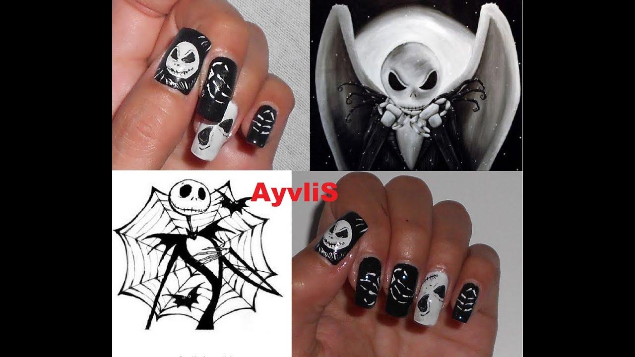Nail Art Ideas » Jack Skellington Nail Art - Pictures of Nail Art ...